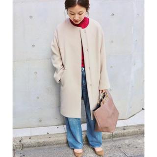 IENA - ♡ IENA ♡ ラムウールノーカラーコート ♡