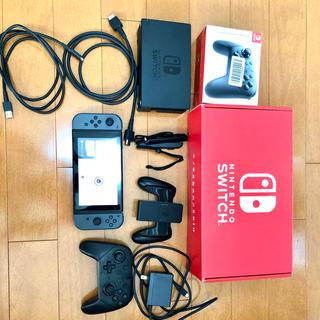 Nintendo Switch - Nintendo Switch グレー 中古 プロコン ソフト付きセット