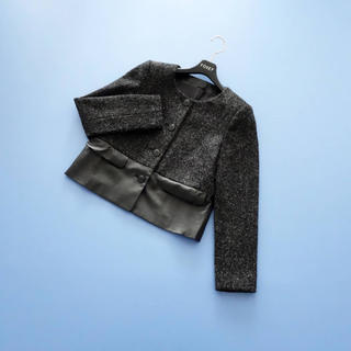 ANAYI - ■アナイ■ 36 レザー ツイード 異素材ジャケット