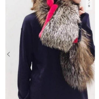 新品タグ付 L'Appartement Mink Fox Line Stole◆