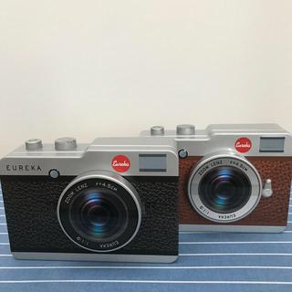 カルディ(KALDI)のカルディ  カメラ缶 ブラウン&ブラック (菓子/デザート)