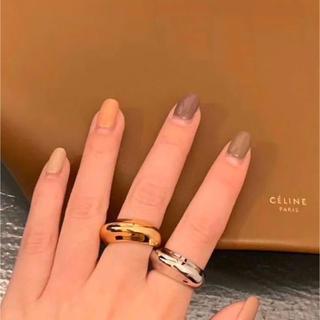 ドゥーズィエムクラス(DEUXIEME CLASSE)の人気❗️ボリュームリング ムーンリング 2カラー 18k (リング(指輪))