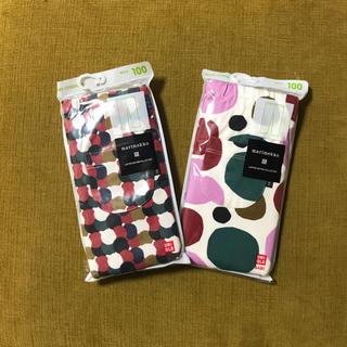 マリメッコ(marimekko)の2色セット新品未使用UNIQLO×MARIMEKKO海外限定ベビータイツ100(パンツ/スパッツ)