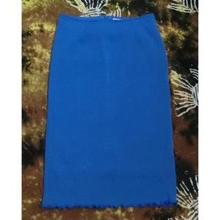 エゴイスト(EGOIST)のEGOIST ターゴイズブルー タイトスカート USED 送料込(ひざ丈スカート)