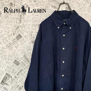 Ralph Lauren - 90s ラルフローレン BDシャツ ビッグサイズ ポニー刺繍ロゴ XLサイズ