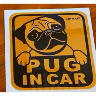 PUG IN CAR ステッカー