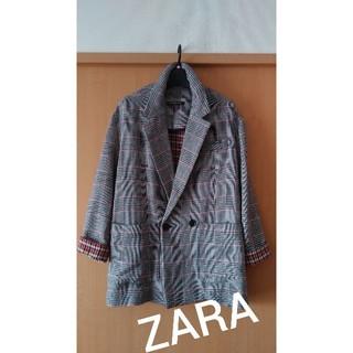 ZARA - ZARA★チェック可愛いジャケットコート