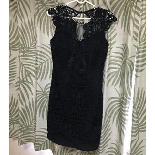 dazzy store - ネイビー✖️レース 大人キャバ ドレス