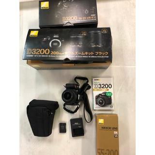 Nikon - nikon D3200 18-55mm vr ダブルズームキット ブラック 美品