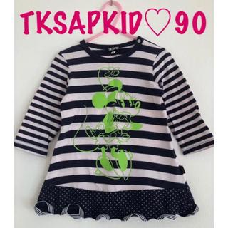 Disney - TKSAPKID♡ミニーちゃん 長袖 チュニック トップス 90