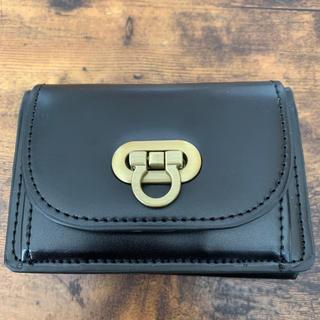 ユメテンボウ(夢展望)のミニ財布 ブラック 三つ折り財布(折り財布)