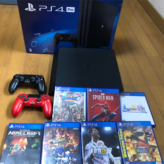 PlayStation4 - PS4 pro 1TB +ソフト7本セット