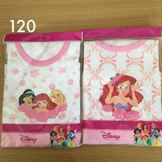 Disney - 120㎝ ディズニープリンセス長袖シャツ 厚地綿100%