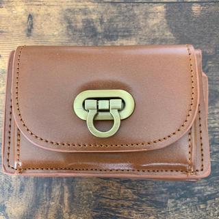 ユメテンボウ(夢展望)のミニ財布 キャメル 三つ折り財布(折り財布)