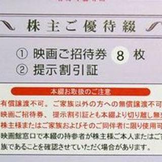 8枚 東京テアトル株主優待券 2020.2-2020.7