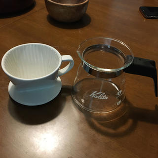 カリタ(CARITA)のカリタ コーヒードリッパーとコーヒーサーバーセット(コーヒーメーカー)