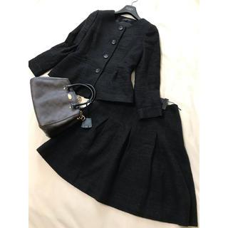 theory - セオリー セットアップ ジャケット スカート スーツ 卒業 入学 黒 ブラック