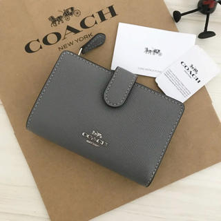 COACH - 完売カラー 新品 COACH コーチ 財布 新色 グレー