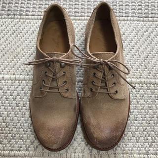 クアドロ(QUADRO)の【数回使用】sot shoes レディース革靴 スウェード地(ローファー/革靴)