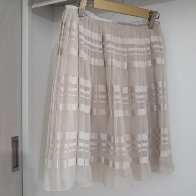 UNTITLED(アンタイトル)の【UNTITLED】アンタイトル 春物スカート プリーツ加工 レディースのスカート(ひざ丈スカート)の商品写真
