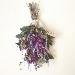 ぬくもり紫の NATURAL スワッグ(ドライフラワー)