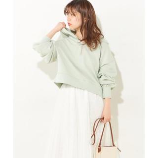 natural couture - ナチュラルクチュール ハーフジップ裏毛パーカー