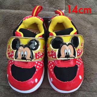 Disney - 新品 タグ付き 14cm シューズ ディズニー ミッキー