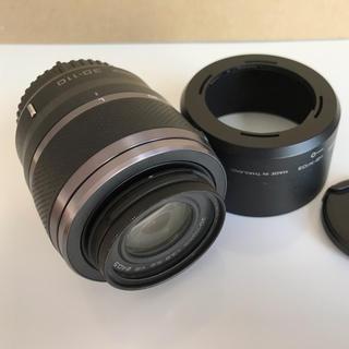 ニコン(Nikon)のニコン Nikon1 30-110mm 望遠レンズ フード付き ブラック 中古品(レンズ(ズーム))
