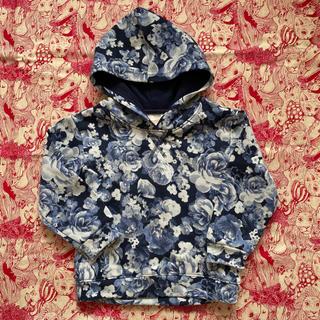 H&M - 新品 H&M  スウェット 90 花柄ブルー