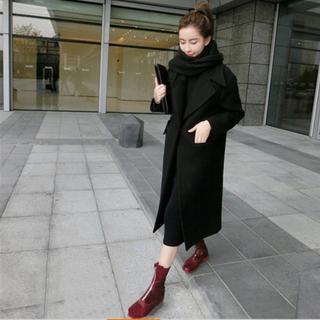dholic - 冬新作 大人気 ロング丈コート ゆったりめ グレー黒あり