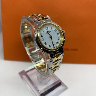 Hermes - 良品 HERMES エルメス クリッパー Hロゴ レディース腕時計 クォーツ