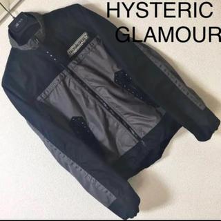 HYSTERIC GLAMOUR - ◆ヒステリックグラマー◆ライダース ジャケット スタッズ ナイロン ブルゾン