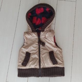 ハッカベビー(hakka baby)のハッカベビー リバーシブル フード付きベスト 90(ジャケット/上着)