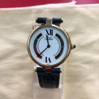 Cartier - カルティエ マスト ヴェルメイユ レディース クオーツ 925スリーカラー文字盤
