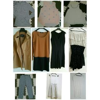 ミラオーウェン(Mila Owen)のワンピース コート カットソー パンツ Mサイズ(ひざ丈ワンピース)