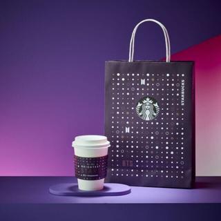 Starbucks Coffee - STARBUCKS +BTS ショッピングバッグ スリーブセット