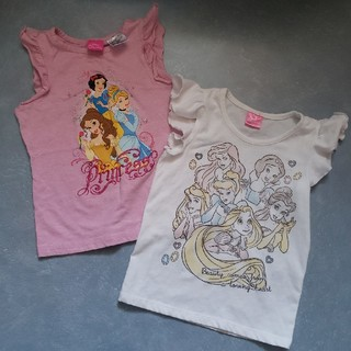 ディズニー(Disney)のディズニープリンセス ノースリーブTシャツ 2枚(Tシャツ/カットソー)