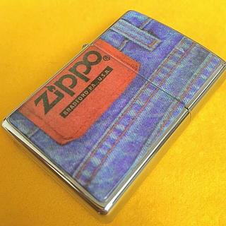 ジッポー(ZIPPO)のZIPPO DENIME デニムシリーズ ビンテージ 革パッチ(タバコグッズ)
