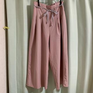 グレイル(GRL)の【送料込】 Lサイズ♡GRL♡ピンク色のハイウエストワイドパンツ(カジュアルパンツ)