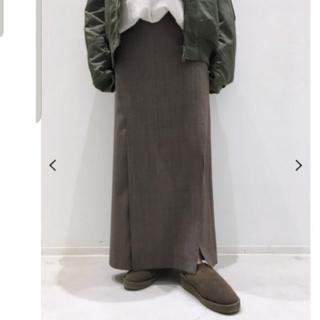 L'Appartement DEUXIEME CLASSE - アパルトモン CHECK SLIT スカート ブラウン 36