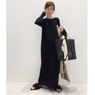 L'Appartement DEUXIEME CLASSE - アパルトモン☆Rib Knit ワンピース 新品ブラック