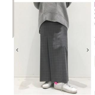 L'Appartement DEUXIEME CLASSE - アパルトモン CHECK SLIT スカート グレー 34