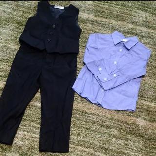 エイチアンドエム(H&M)の美品★100cm 男の子フォーマル スーツ3点セット(ドレス/フォーマル)