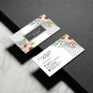 セミオーダー!プロのデザイナーが作る商業印刷の高品質名刺両面100枚/Y0063(オーダーメイド)