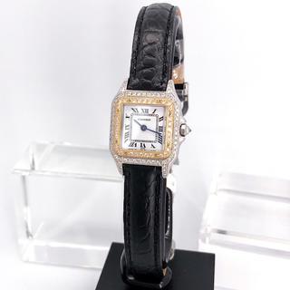 Cartier - 【仕上げ済】カルティエ パンテール SM コンビ ダイヤ レディース 腕時計