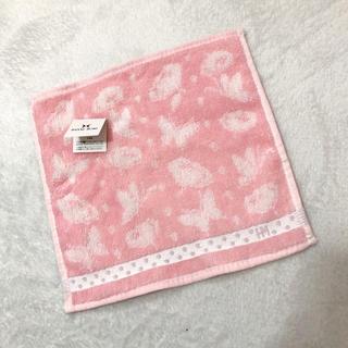 ハナエモリ(HANAE MORI)の新品!【HANAE MORI】タオルハンカチ ◾モリハナエロゴ刺繍(ハンカチ)