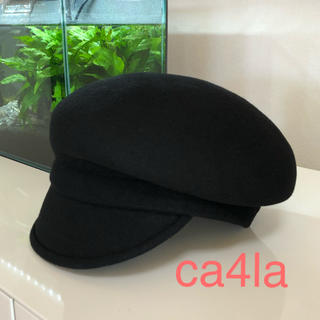 CA4LA - CA4LA☆変形キャスケット☆大人気のブラック♡(*´꒳`*)