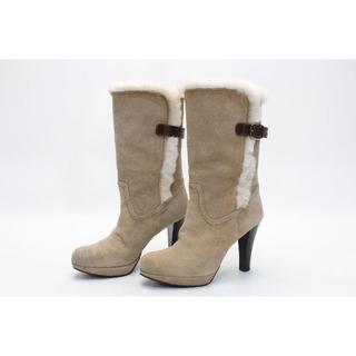 ダイアナ(DIANA)のDIANA 本革スエードムートンブーツ(23.5cmBF)美品(ブーツ)