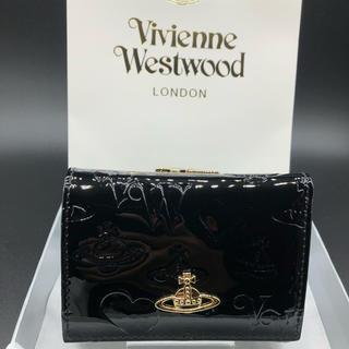 Vivienne Westwood - 【新品・正規品】ヴィヴィアン ウエストウッド 折財布 110 黒 プレゼント