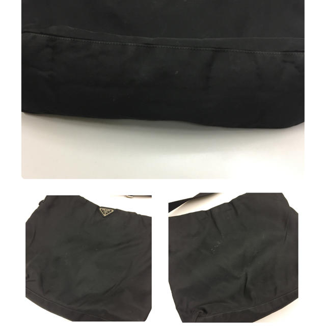 PRADA(プラダ)の良品☆プラダ☆ショルダーバッグ☆三角ロゴ/ナイロン☆NERO/ブラック系 レディースのバッグ(ショルダーバッグ)の商品写真